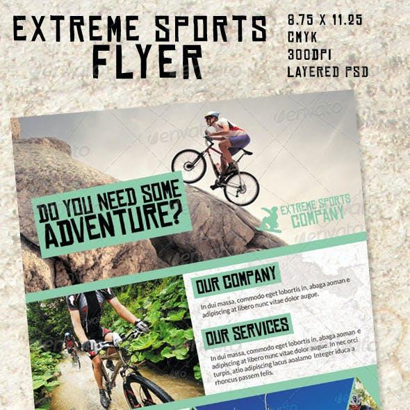 Extreme Sports Flyer/ Magazine Ad