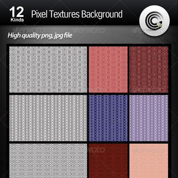 12 Kinds Pixel Textures Background