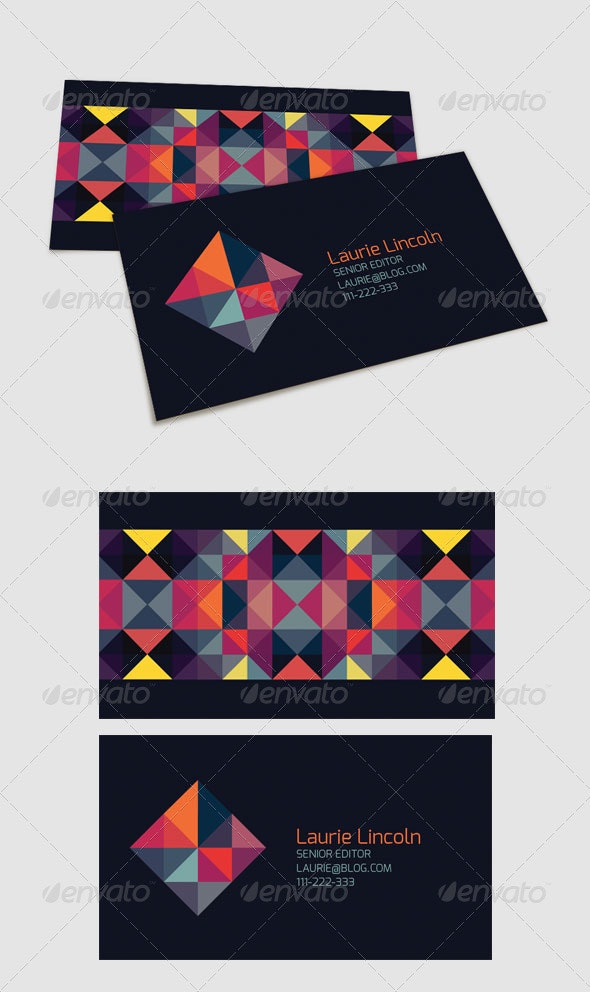 Trendy Geometric Business Card - Creative Business Cards