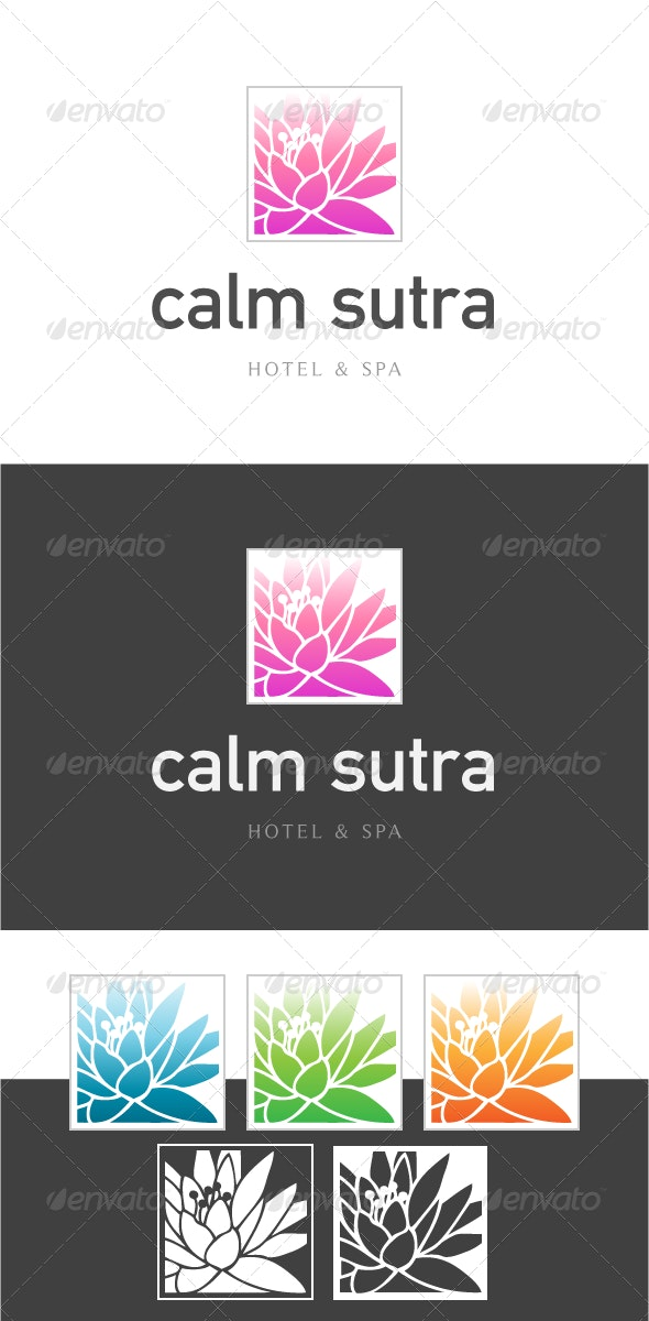 Calm Sutra Hotel & Spa Logo Template - Logo Templates