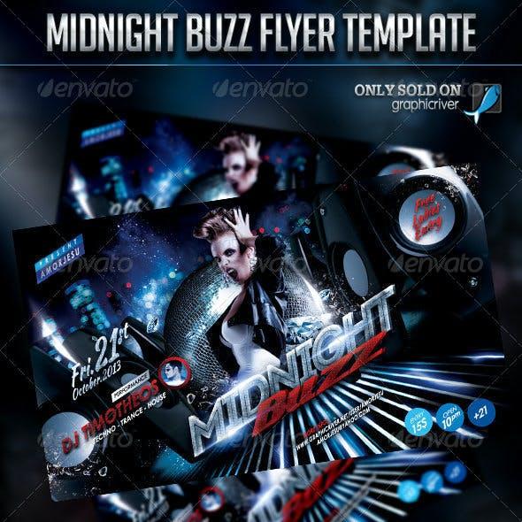 Midnight Buzz Flyer Template