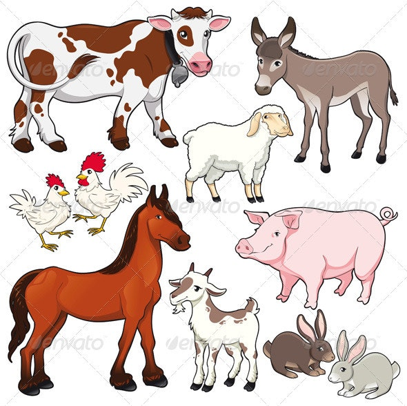 Farm animals.  - Animals Characters