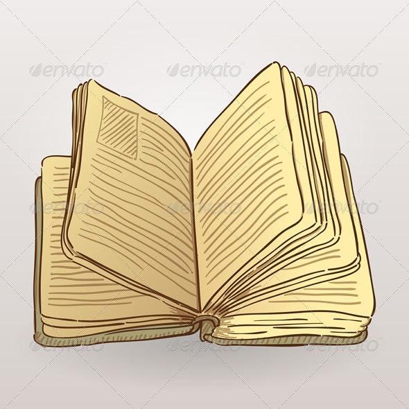 Book Illustration - Objects Vectors