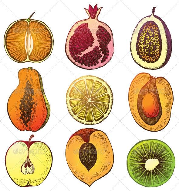 Fruit Halfs - Food Objects