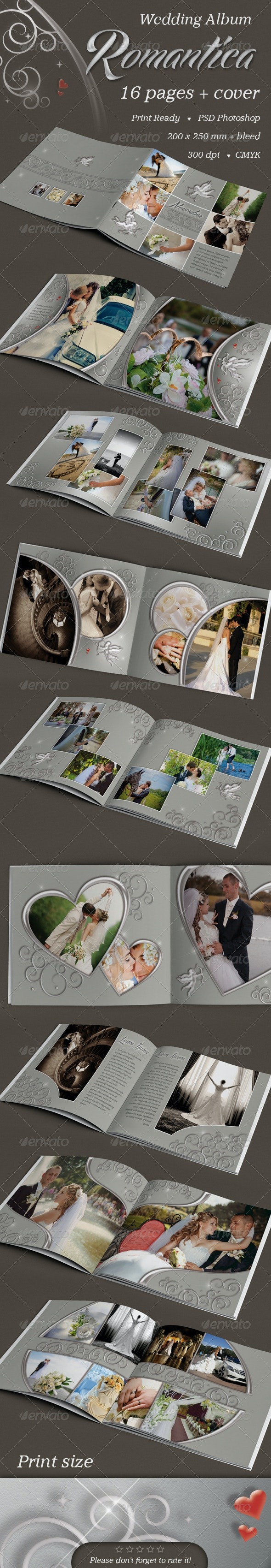 Wedding Album Romantica - Photo Albums Print Templates