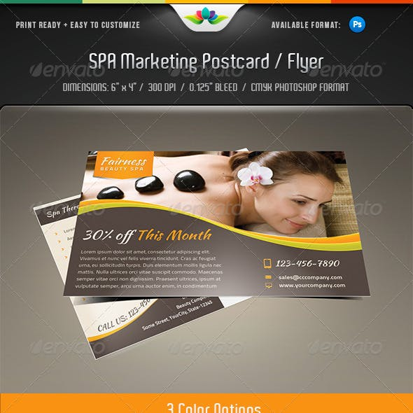 Spa Marketing Postcard / Flyer Vol.2