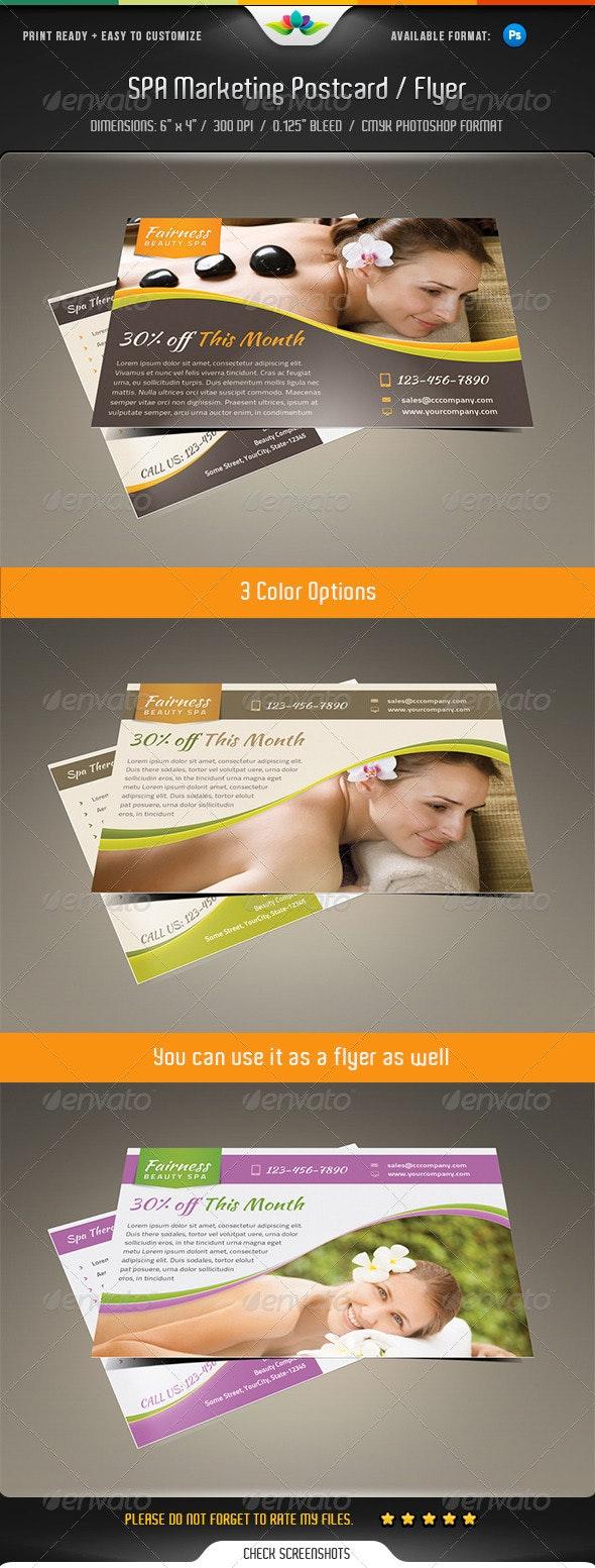 Spa Marketing Postcard / Flyer Vol.2 - Commerce Flyers