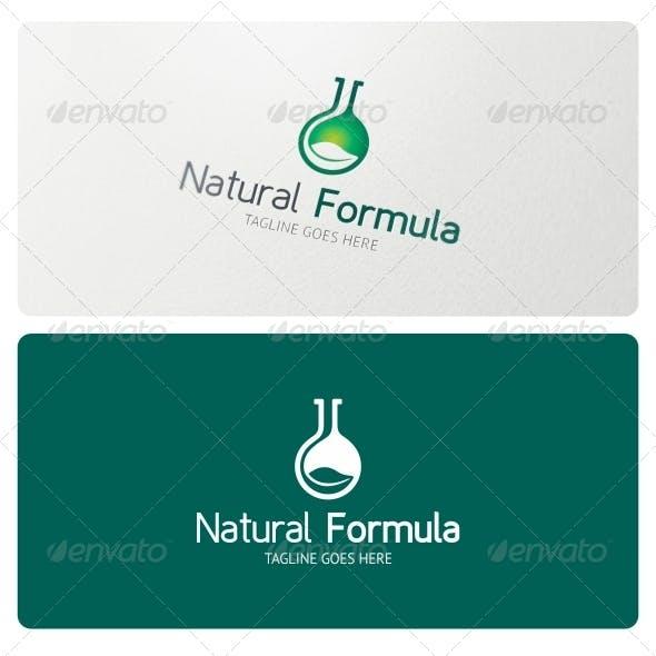 Natural Formula Logo Template