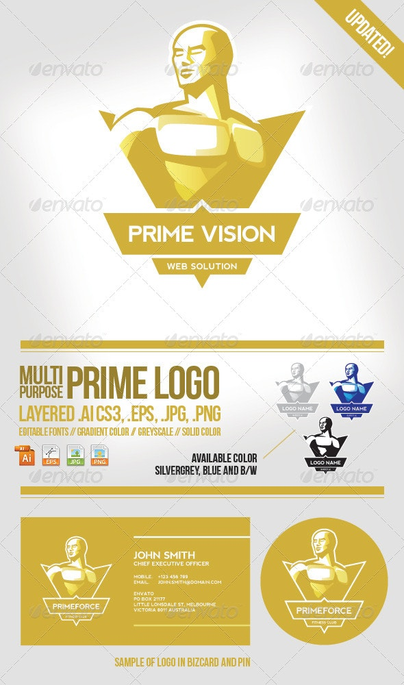 Prime Logo Template - Humans Logo Templates