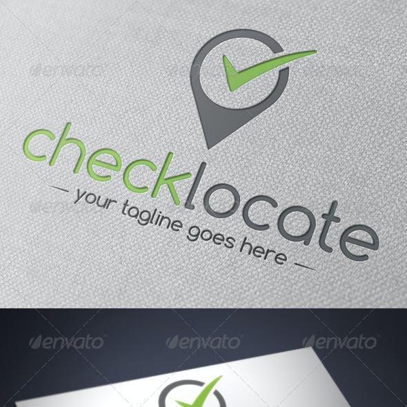 Locator Tick Check Mark Logo Template