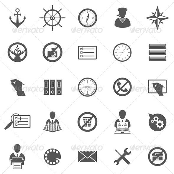 Business Gray Icon Set