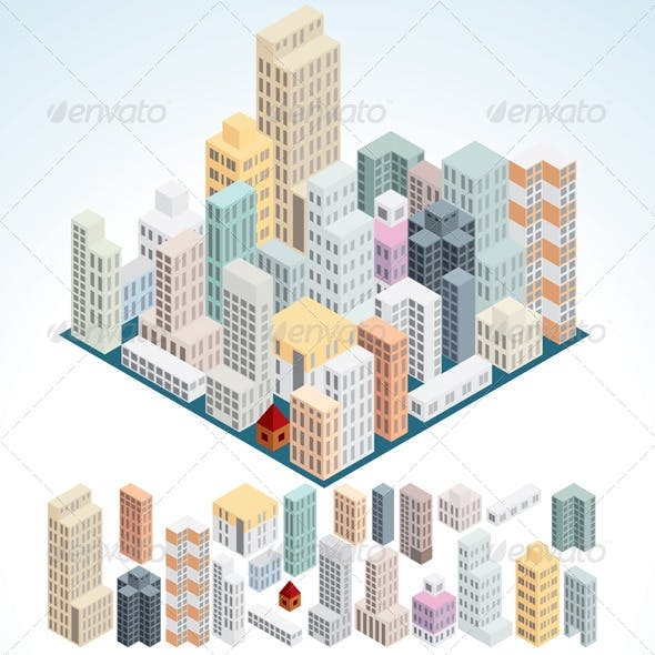 Simply Isometric Buildings Set