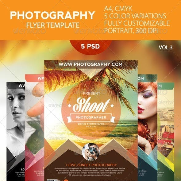 Simple Photography Flyer Template