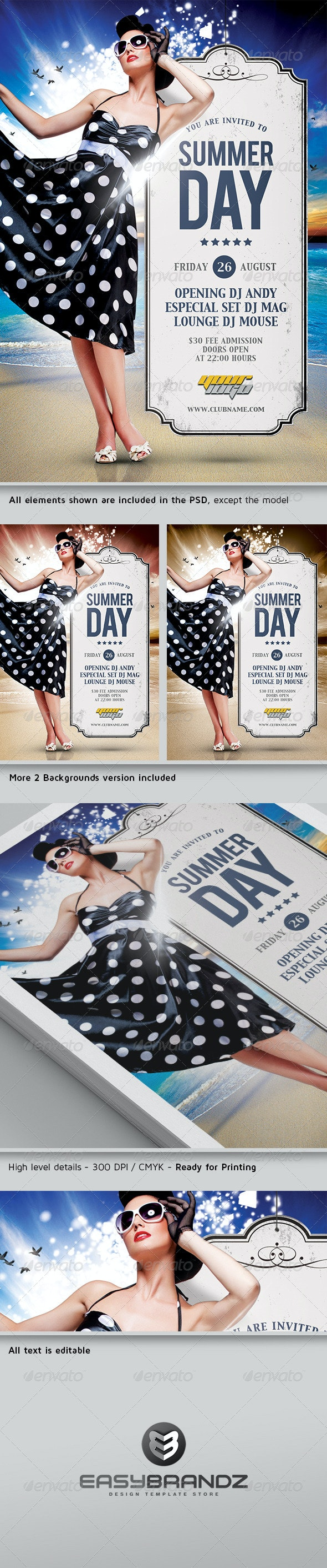 Summer Day Flyer Template - Events Flyers