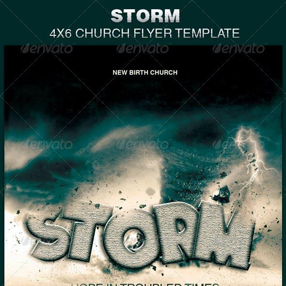 Storm Church Flyer Template