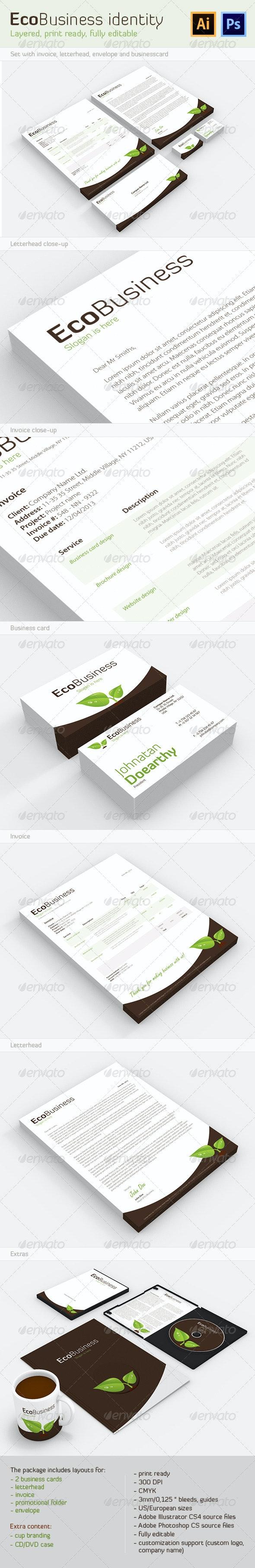 EcoBusiness Corporate Identity - Stationery Print Templates