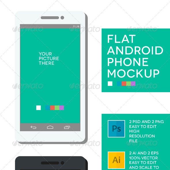 Phone Flat Mockup