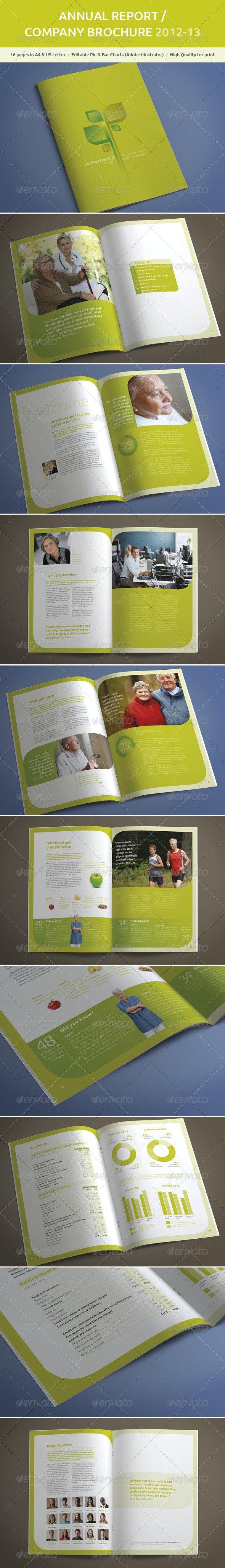 A4 Annual Report / Company Brochure - Brochures Print Templates