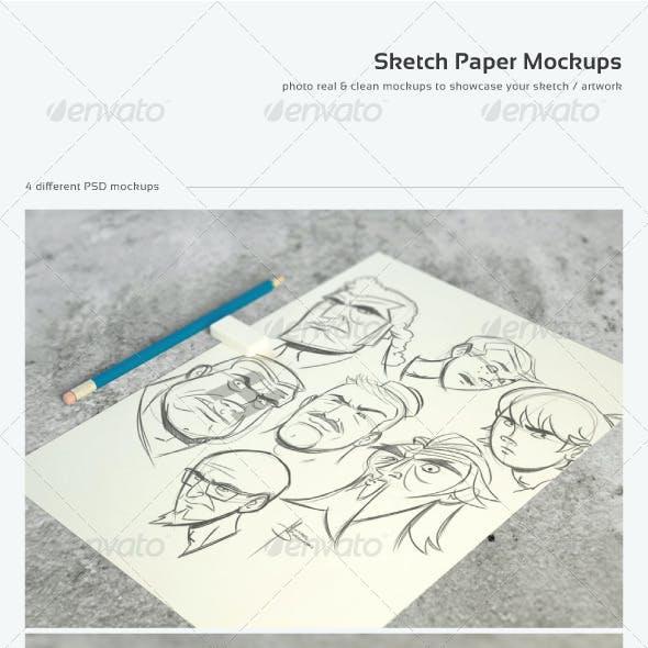 Sketch Paper Mock-Ups
