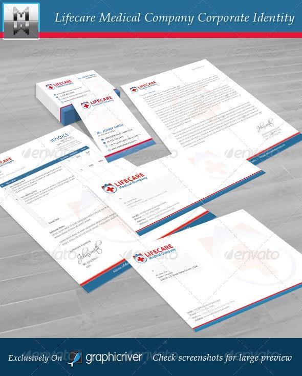 Lifecare Medical Company Corporate Identity - Stationery Print Templates