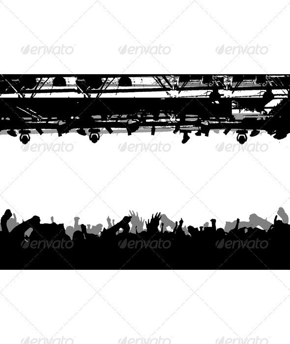 Show Crowd Silhouette - People Characters