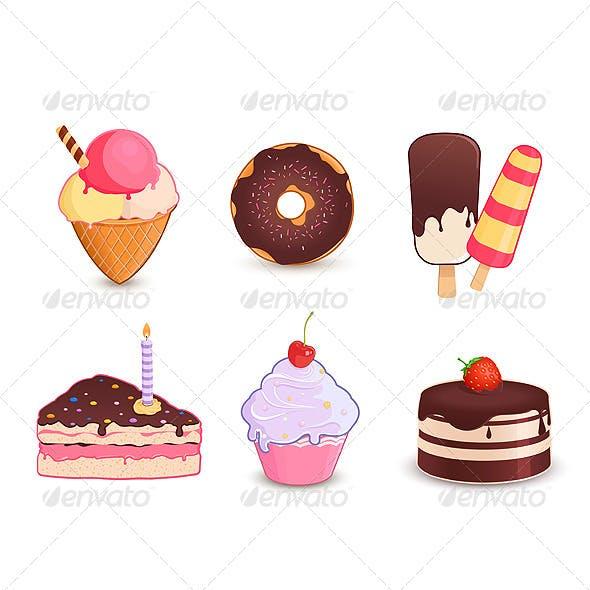 Desserts Icon Set