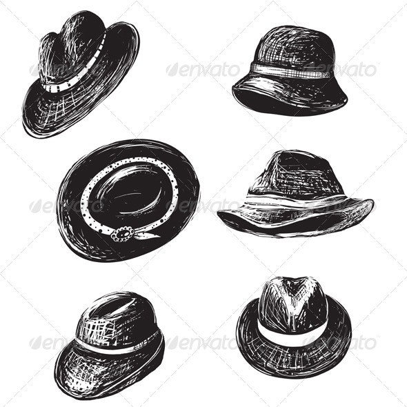 Hats Collection - Man-made Objects Objects