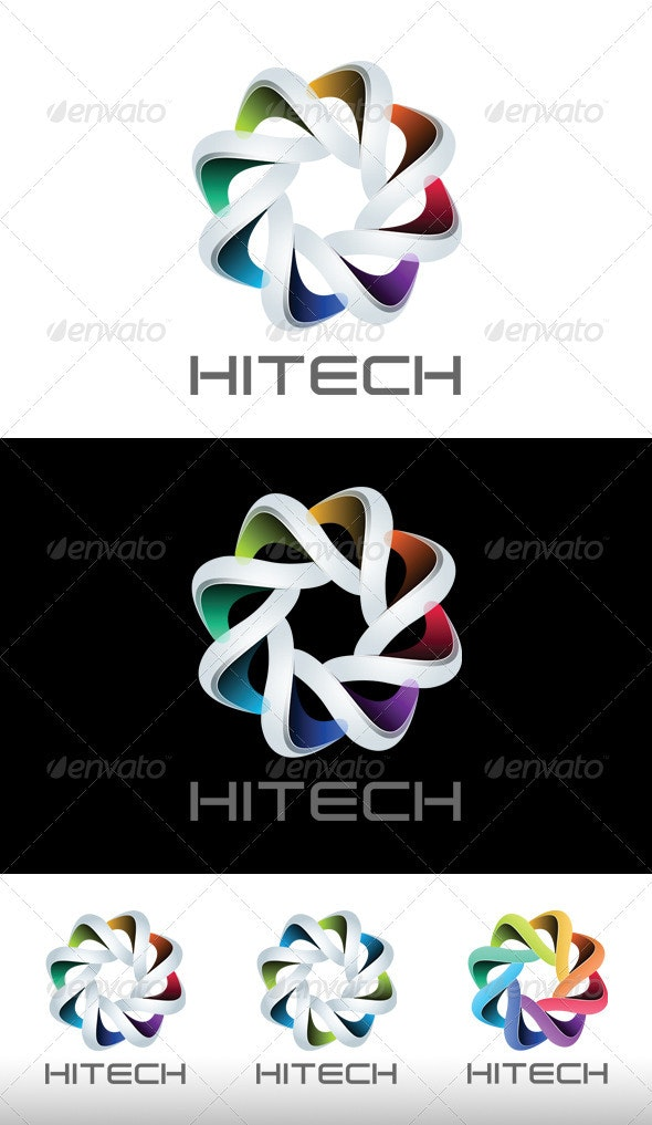 HiTech Logo - Vector Abstract