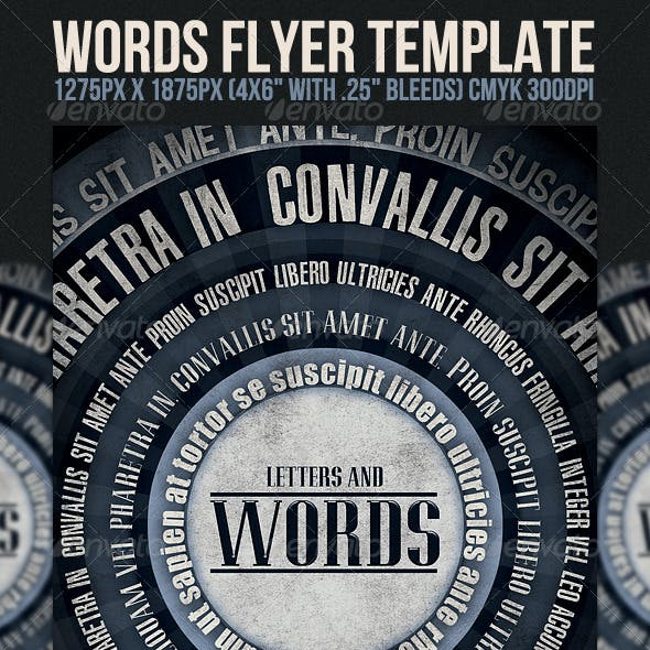 Words Flyer Template