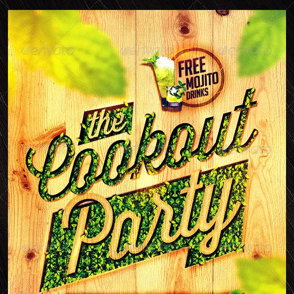 Cookout Party Flyer Template
