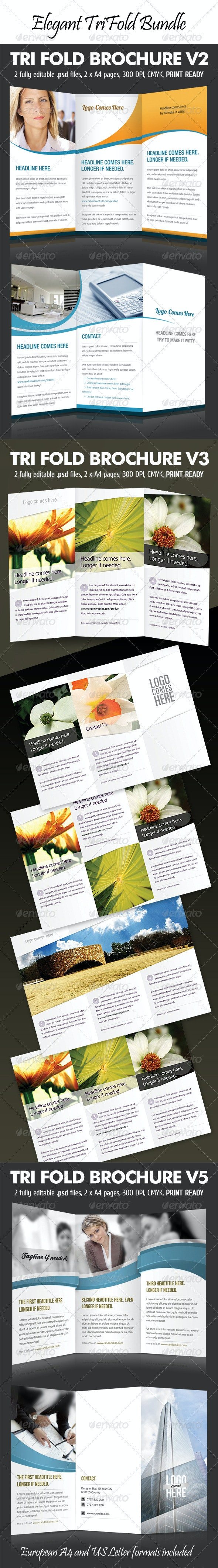 Elegant Tri-Fold Bundle - Corporate Brochures