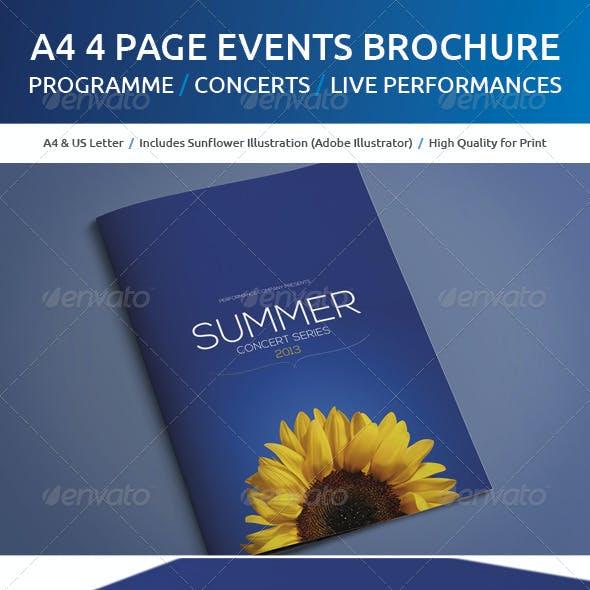 A4 Events Brochure