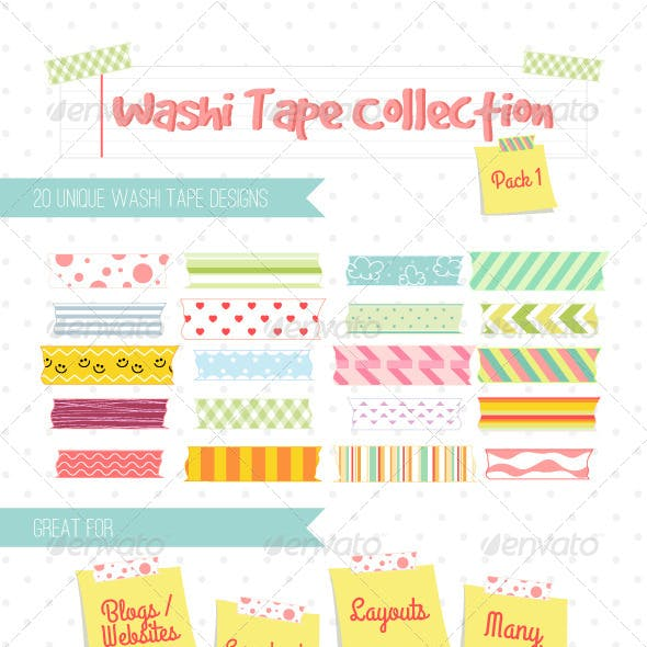 Washi Tape Designs Pack 1
