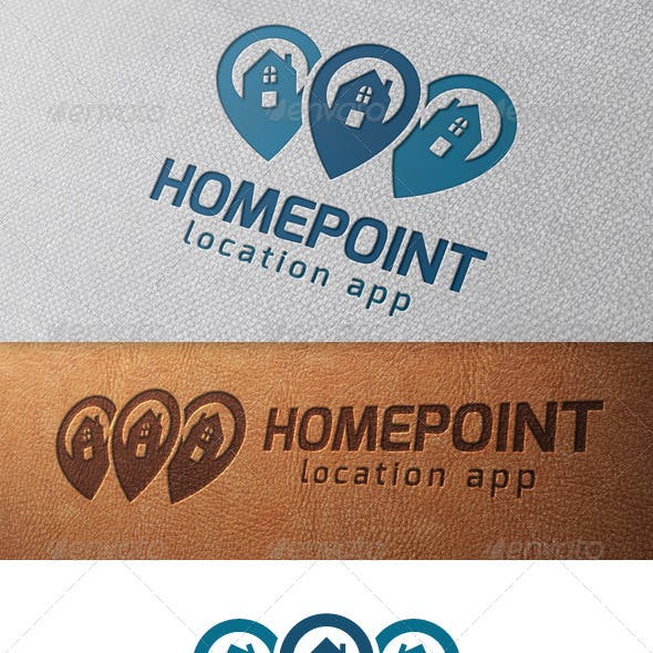 Real Estate Locator Logo Template