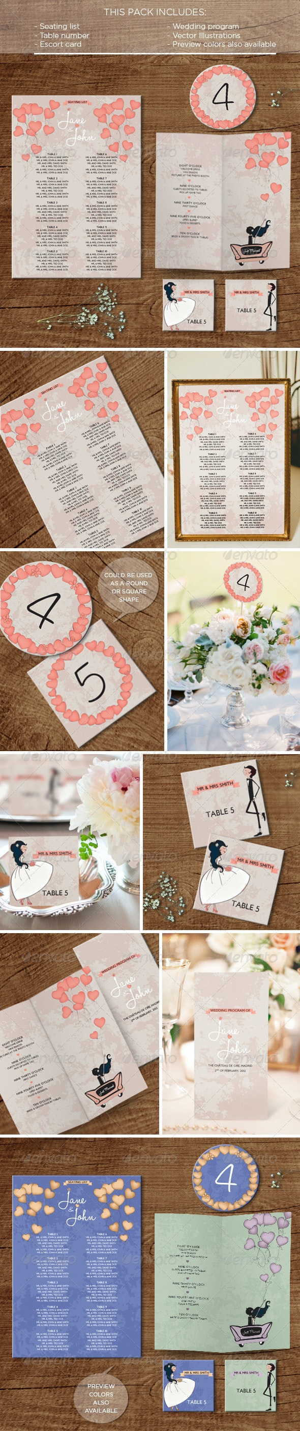 In the Air: Wedding Pack - Weddings Cards & Invites