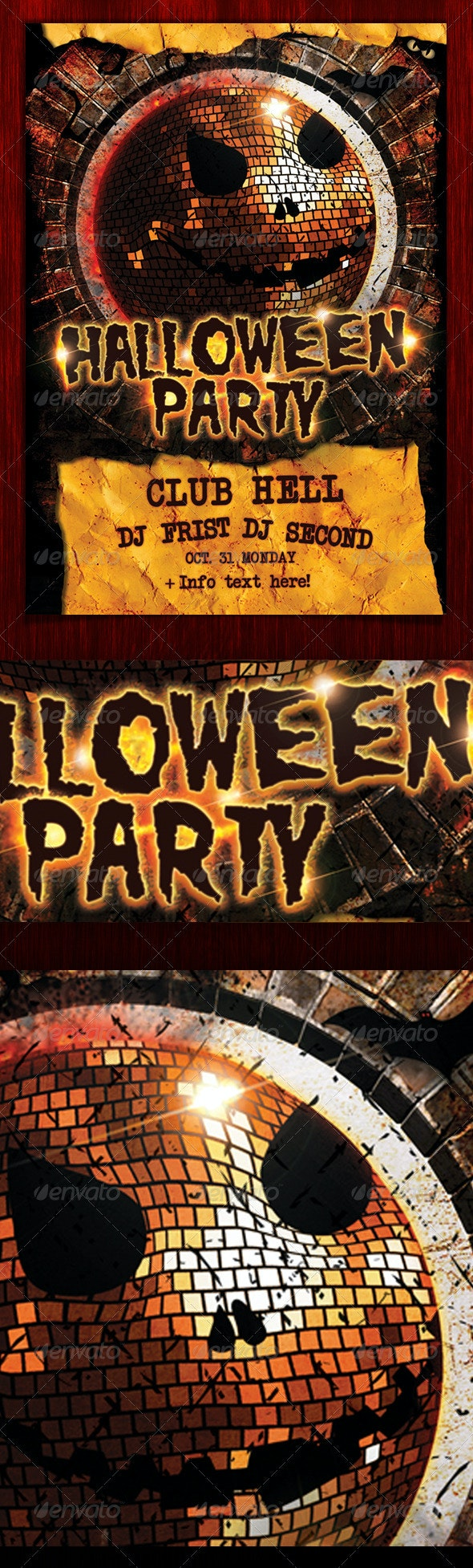 Halloween Party Flyer (psd) - Clubs & Parties Events