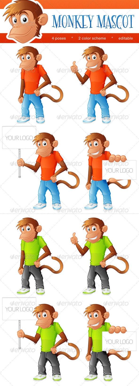Monkey Mascot - Characters Vectors