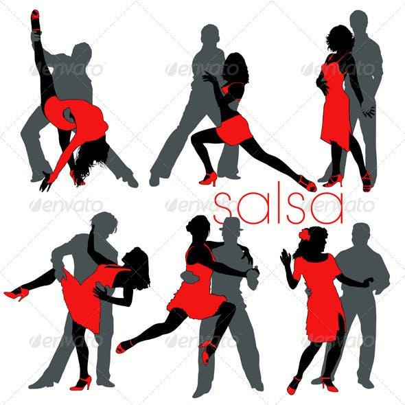 Salsa Dancers Set