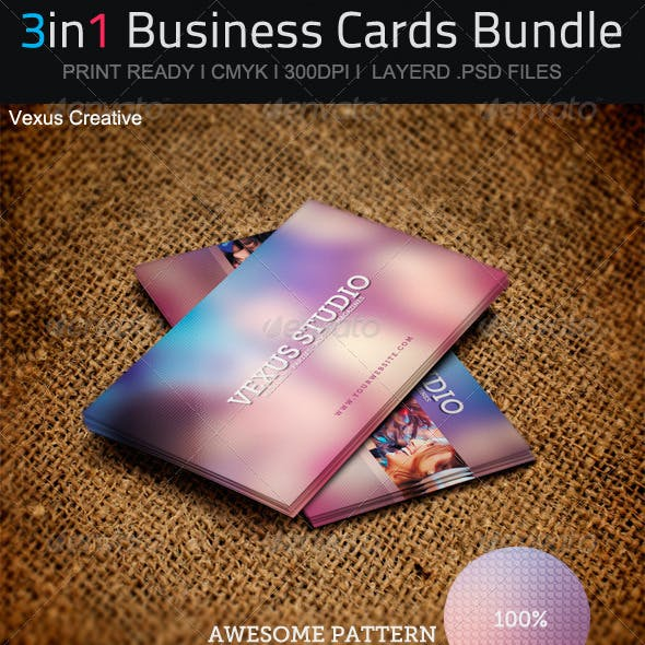 3in1 Business Cards Bundle 02
