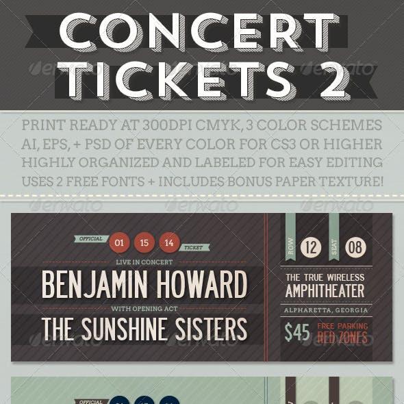 Concert Tickets 2