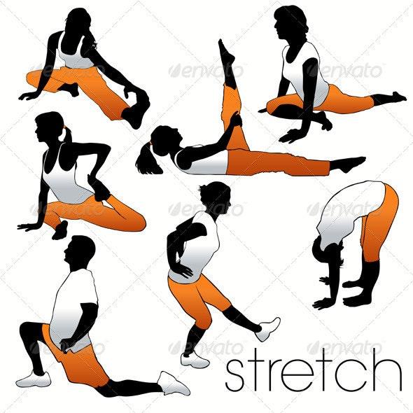 Stretch Aerobics Set - Sports/Activity Conceptual