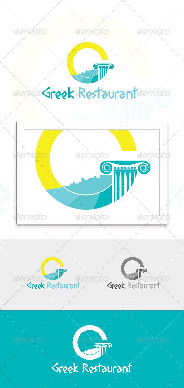 Greek Restaurant Logo - Restaurant Logo Templates