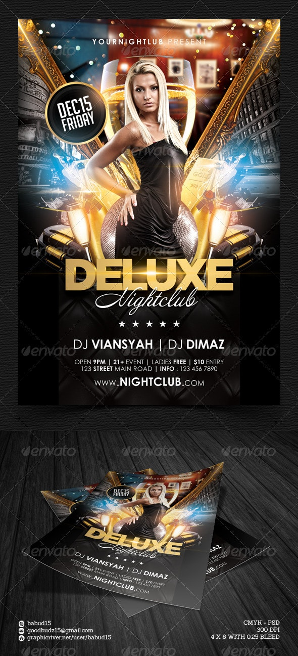 Deluxe Nightclub Flyer Template - Events Flyers