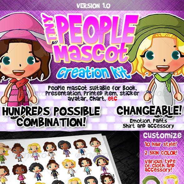 Tiny People Mascot Creation Kit : Female