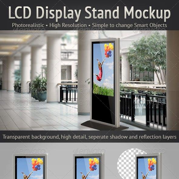 LCD Display Stand Mockup