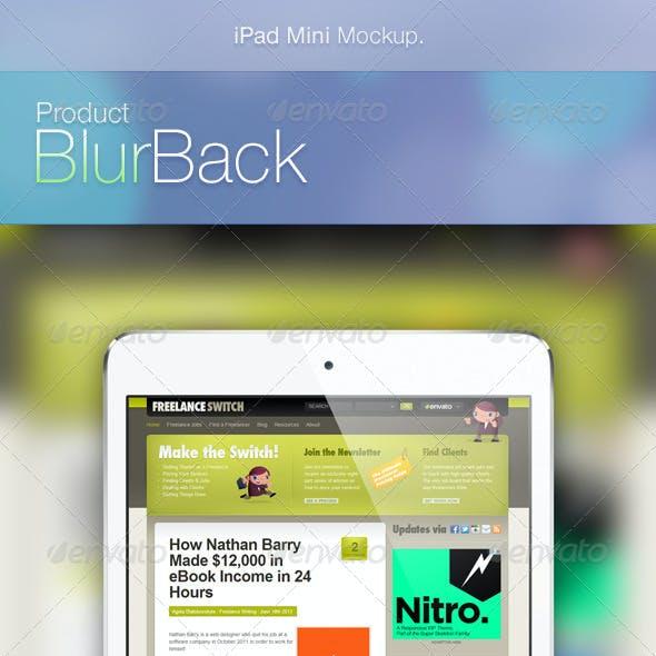 iPad Mini Mockup - BlurBack