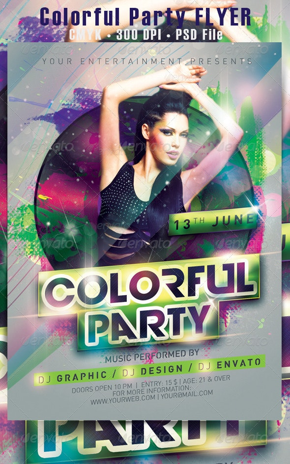 Colorful Party Flyer - Events Flyers