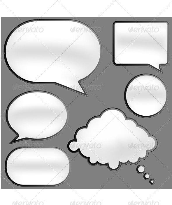 Speech Bubbles - Miscellaneous Vectors