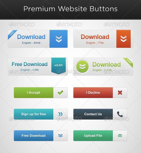 Website Button Pack - Buttons Web Elements