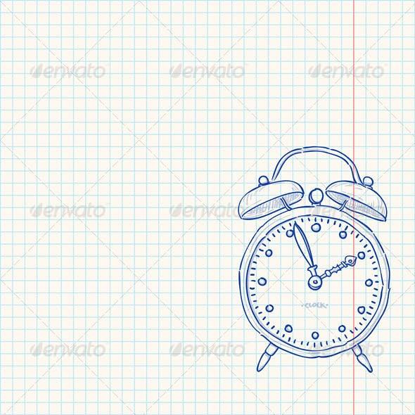 Alarm Clock Doodle